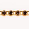 Preciosa Rhinestone Banding 1Row SS13 Gold Casing/smoked Topaz